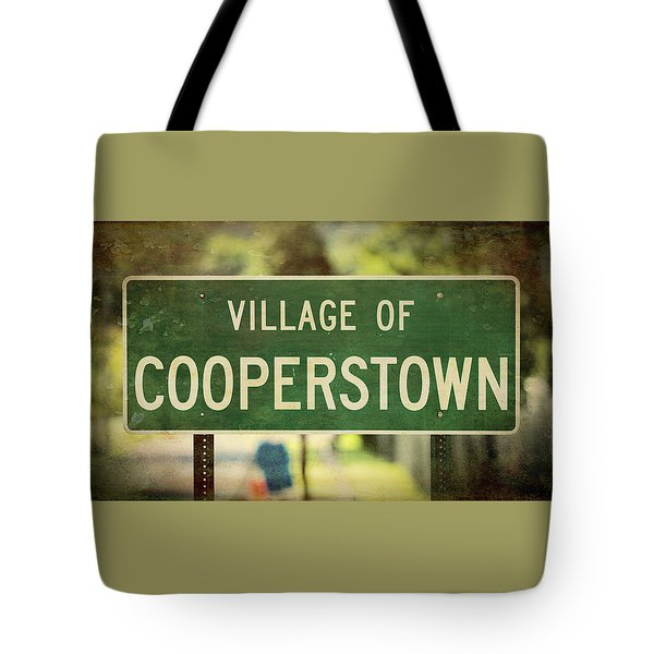 Welcome To Cooperstown Tote Bag