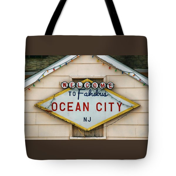 Welcome To Fabulous Ocean City N J Tote Bag