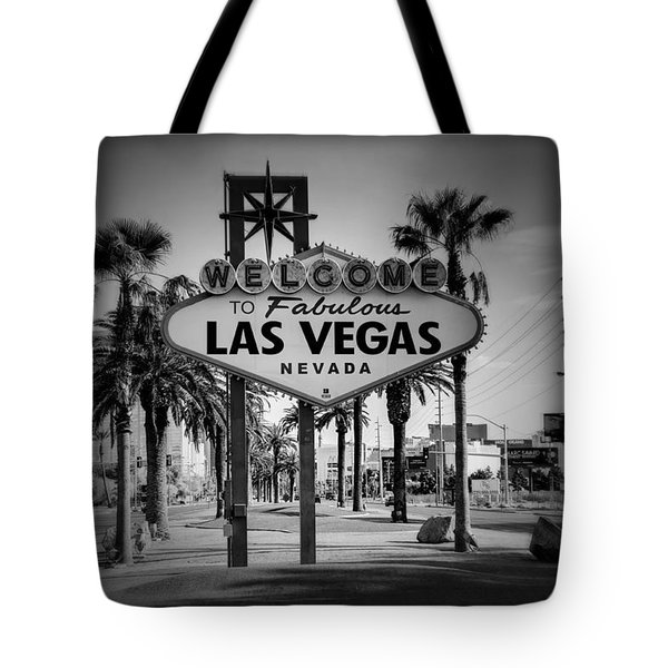 Welcome To Las Vegas Series Holga Black And White Tote Bag