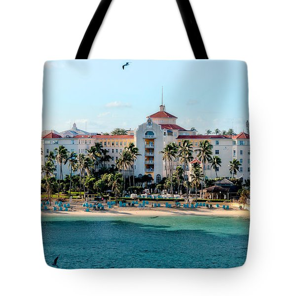 Welcome To Nassau Tote Bag by Christopher Holmes