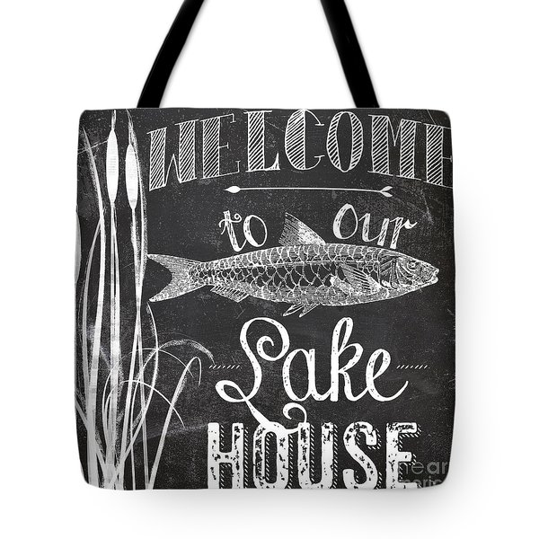 Welcome To Our Lake House Sign Tote Bag