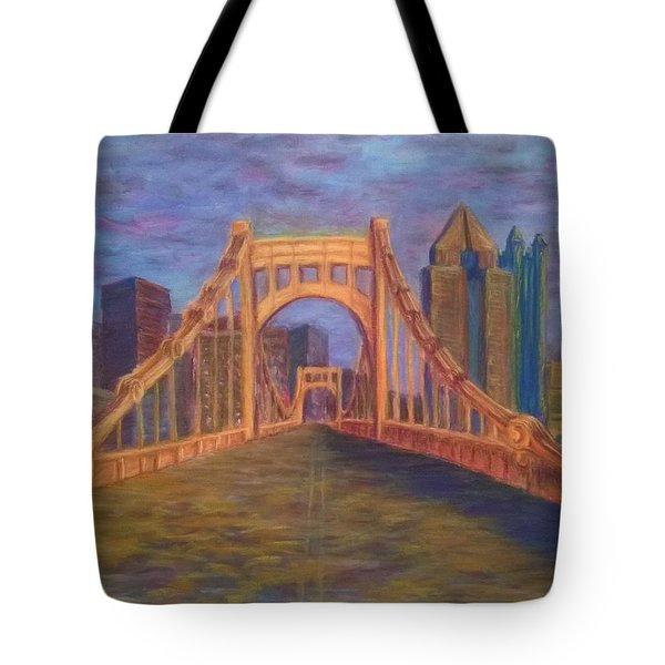 Welcome To Pittsburgh Tote Bag by Joann Renner