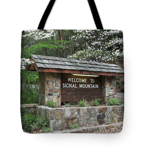 Welcome To Signal Mountain Spring Tote Bag