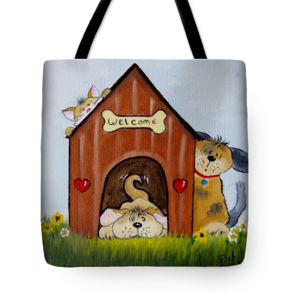 Welcome To The Doghouse Tote Bag