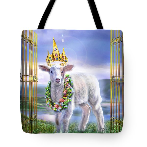 Welcome To The Kingdom Tote Bag by Reggie Duffie