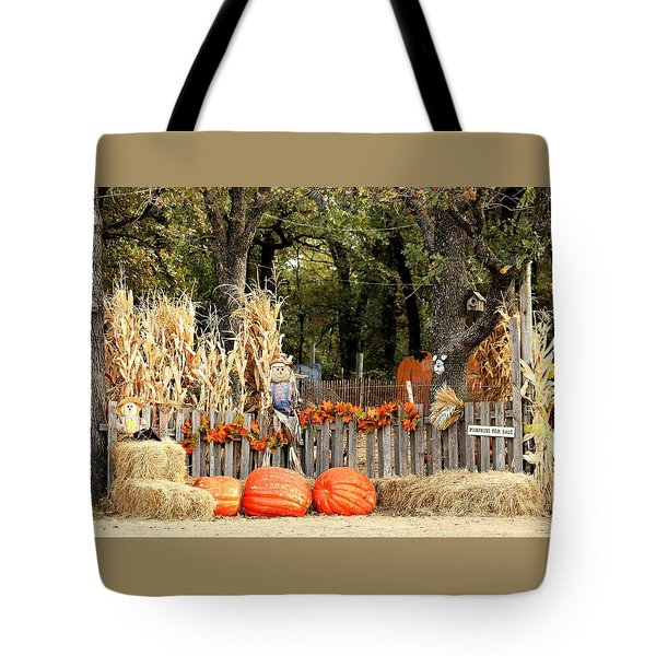 Tote Bag featuring the photograph Welcome To The Pumpkin Patch by Sheila Brown