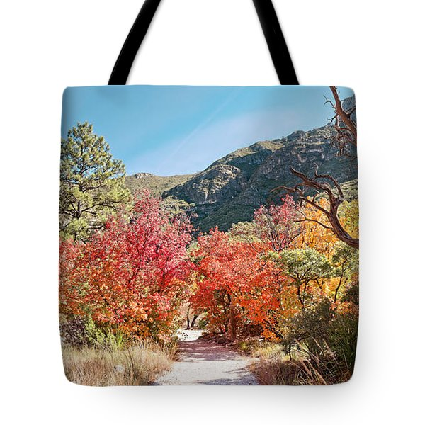 Welcome To The Trapp Family Lodge At Mckittrick Canyon - Guadalupe Mountains National Park - Texas Tote Bag