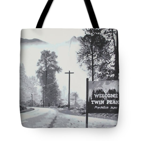 Welcome To Twin Peaks Tote Bag by Ludzska