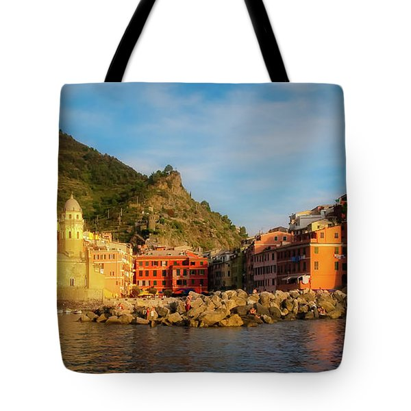 Welcome To Vernazza Tote Bag