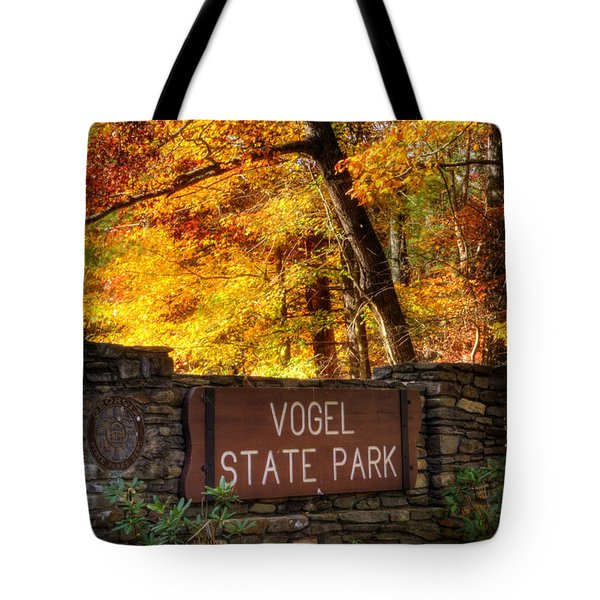 Welcome To Vogel State Park Tote Bag