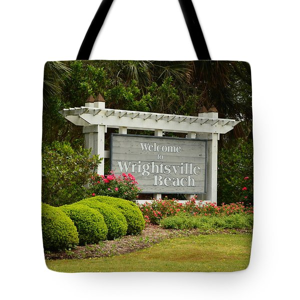 Welcome To Wrightsville Beach Nc Tote Bag