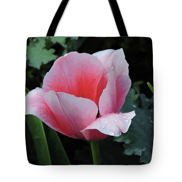 Tote Bag featuring the photograph Welcome Tulip by Penny Lisowski