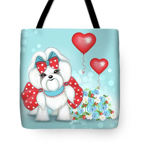 Tote Bag featuring the painting Welcome With Love  by Catia Lee