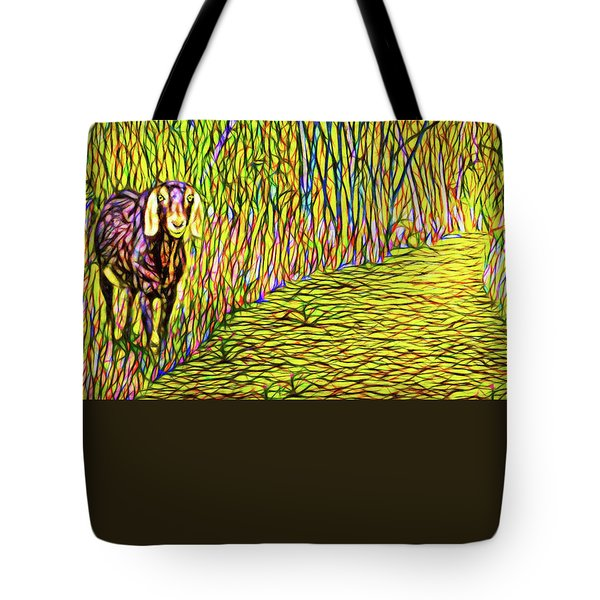 Welcoming Goats Tote Bag by Joel Bruce Wallach