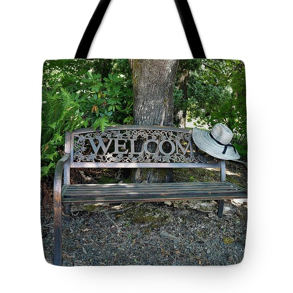 Tote Bag featuring the photograph Welcoming Hat by Jean Noren
