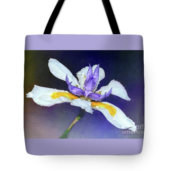 Tote Bag featuring the photograph Welcoming Iris By Kaye Menner by Kaye Menner