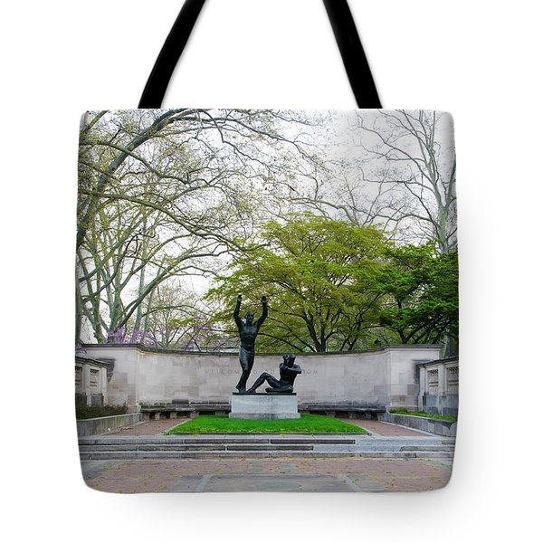 Welcoming To Freedom - Philadelphia Tote Bag by Bill Cannon