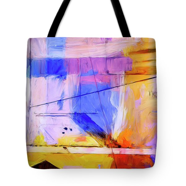 Tote Bag featuring the painting Welder by Dominic Piperata