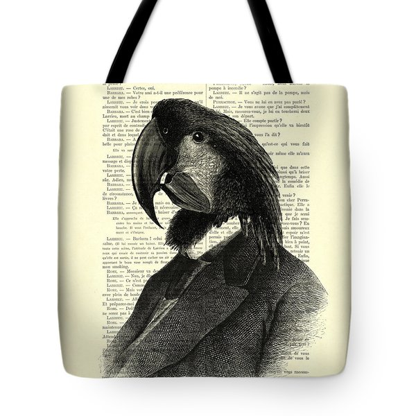 Well Dressed Cockatoo Bird Tote Bag