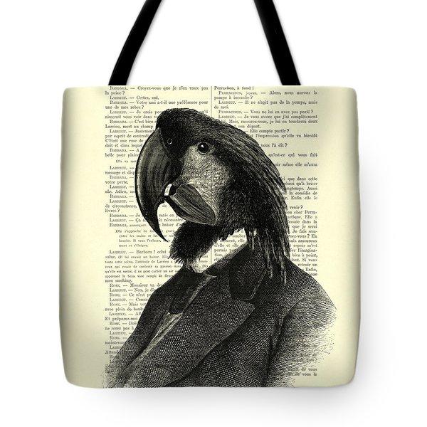 Well Dressed Cockatoo Bird Tote Bag