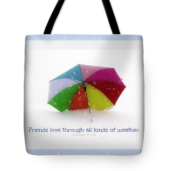 Well-weathered Friends Tote Bag