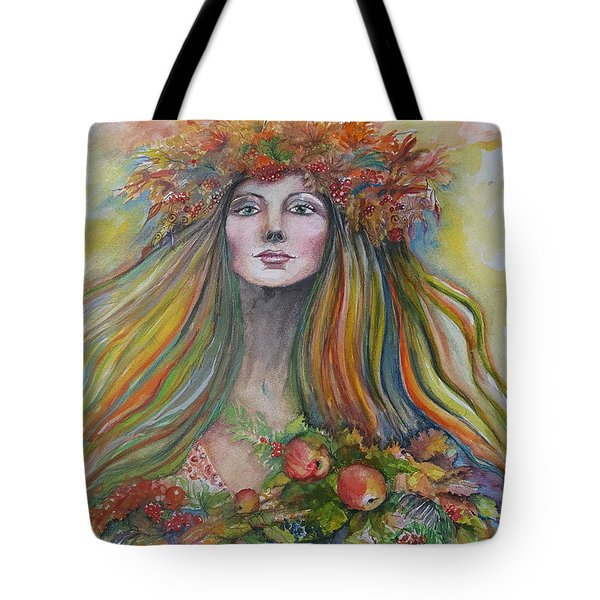 Welcome To Autumn Tote Bag by Rita Fetisov