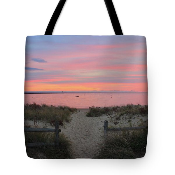Wellfleet Harbor Sunset From Mayo Beach Tote Bag by John Burk