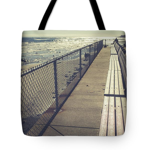 Tote Bag featuring the photograph Wells Beach Maine by Edward Fielding