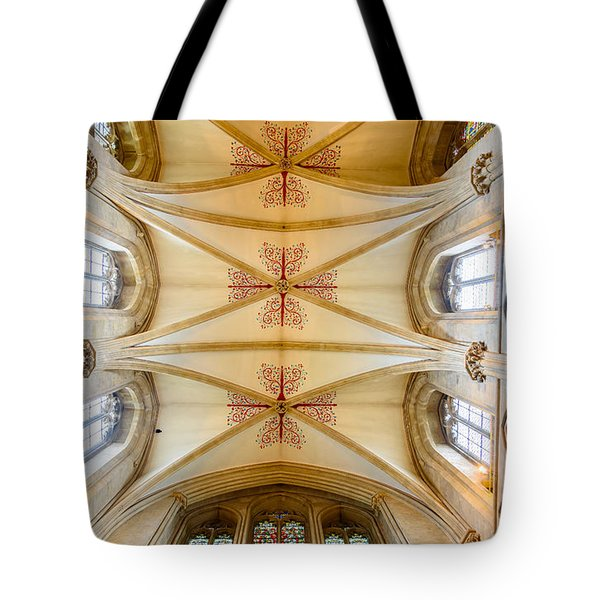 Wells Cathedral Ceiling Tote Bag by Colin Rayner