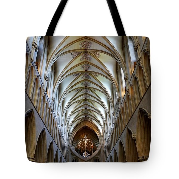 Wells Cathedral Ceiling  Tote Bag by Lexa Harpell