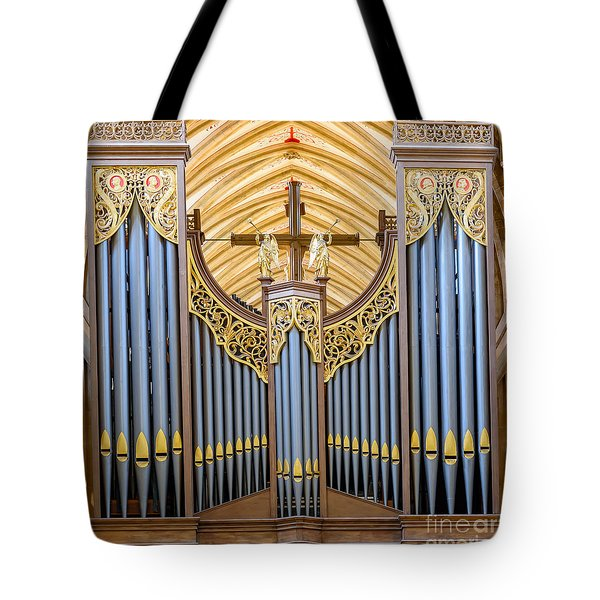 Wells Cathedral Organ Tote Bag by Colin Rayner