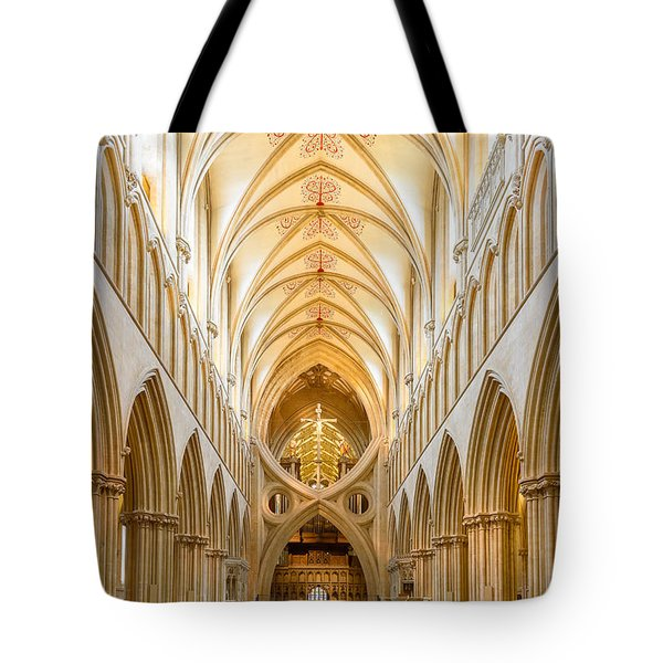 Wells Cathedral Nave Tote Bag by Colin Rayner