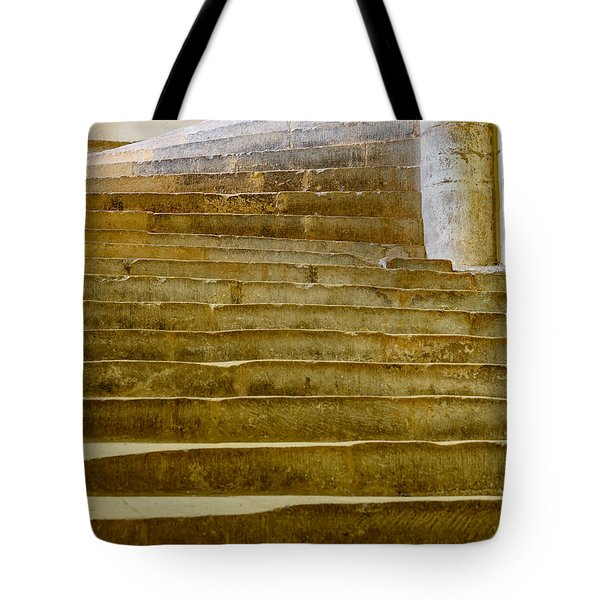 Wells Cathedral Steps Tote Bag by Colin Rayner