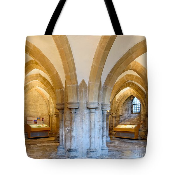 Wells Cathedral Undercroft Tote Bag by Colin Rayner