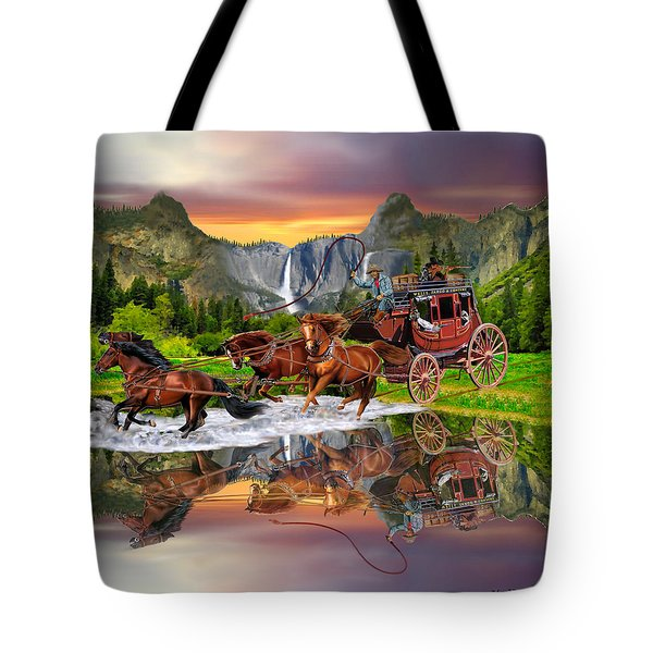 Wells Fargo Stagecoach Tote Bag