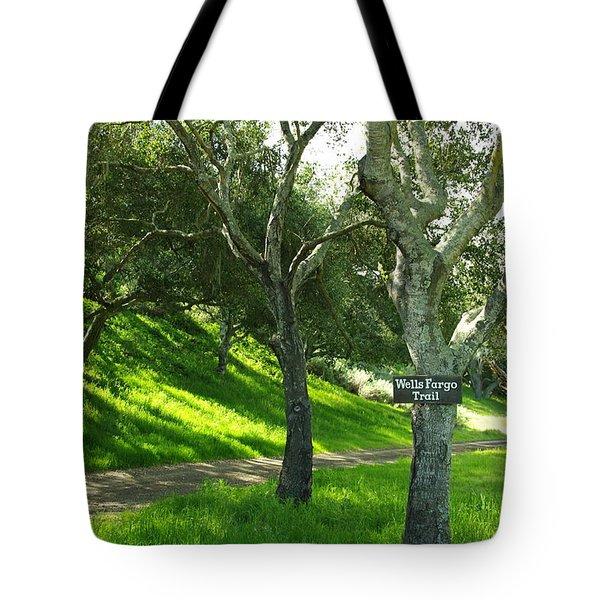 Wells Fargo Trail Tote Bag by Jeff Lowe