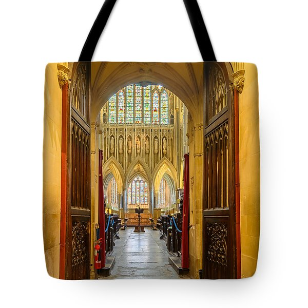 Wellscathedral, The Quire Tote Bag by Colin Rayner