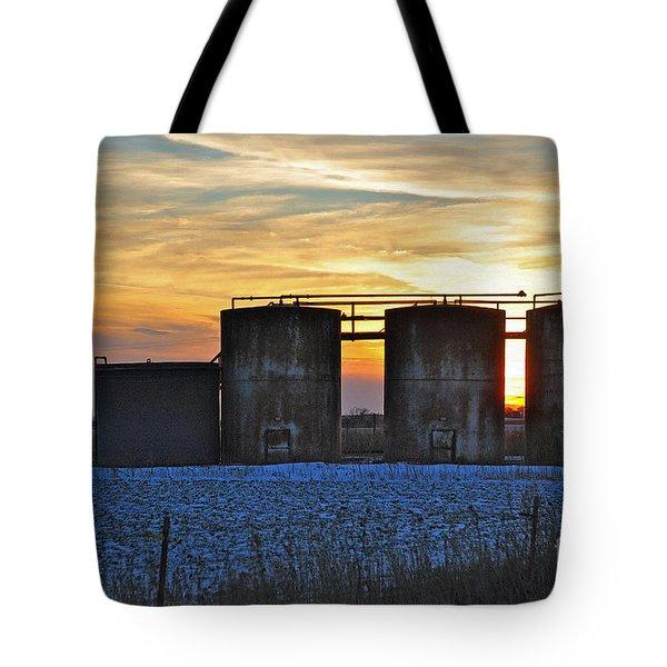 Wellsite Sunset Tote Bag