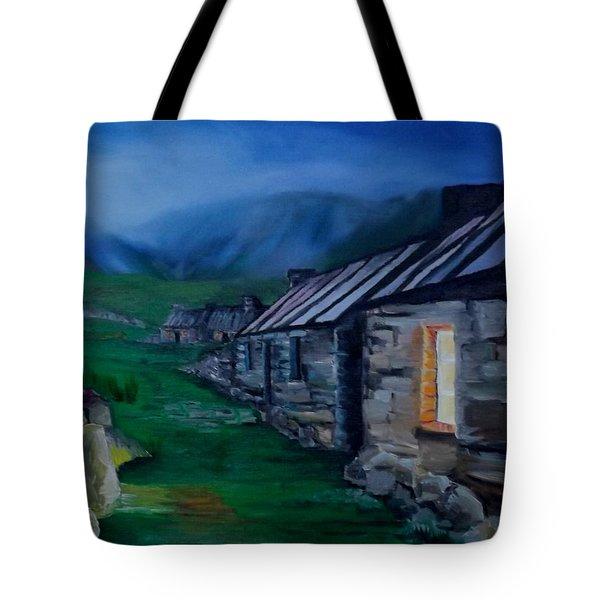 Welsh Cottage Tote Bag