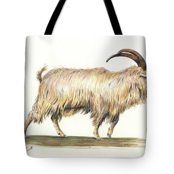 Welsh Long Hair Mountain Goat Tote Bag