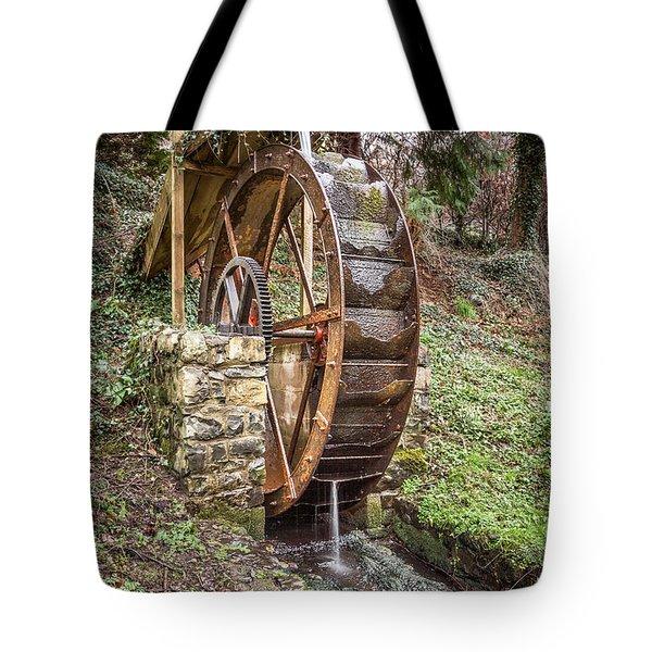 Welsh Waterwheel Tote Bag