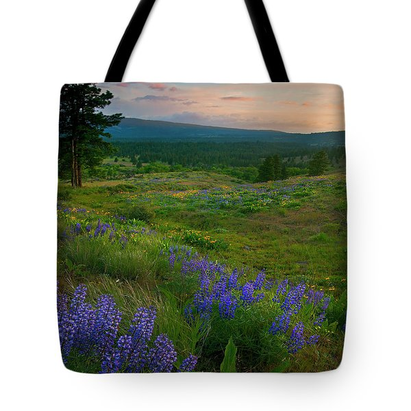 Wenas Valley Sunset Tote Bag by Mike  Dawson