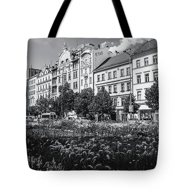 Tote Bag featuring the photograph Wenceslas Square In Prague by Jenny Rainbow