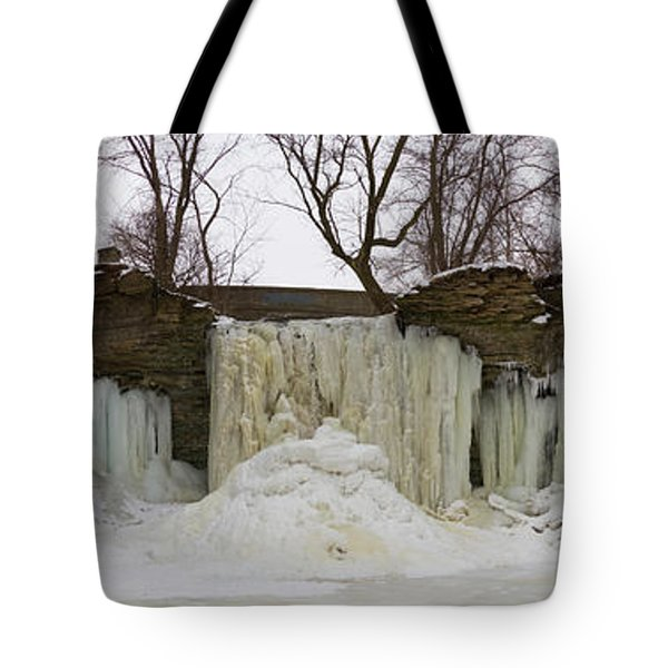 Tote Bag featuring the photograph Wequiock Falls by Joel Witmeyer
