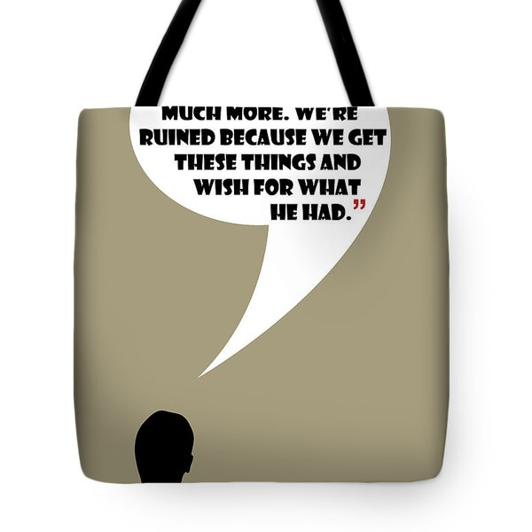 We're Flawed - Mad Men Poster Don Draper Quote Tote Bag