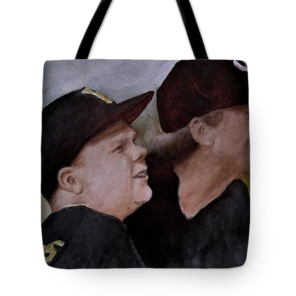 Wes And Dad Tote Bag