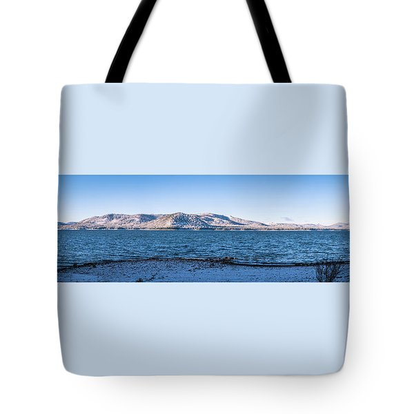 Tote Bag featuring the photograph West Almanor Blue by Jan Davies