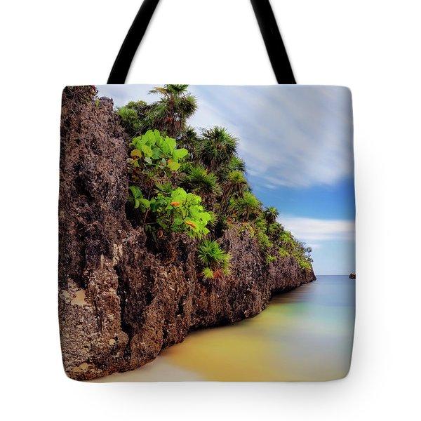 Tote Bag featuring the photograph West Bay Beach At Isla Roatan - Caribbean - Honduras - Seascape by Jason Politte