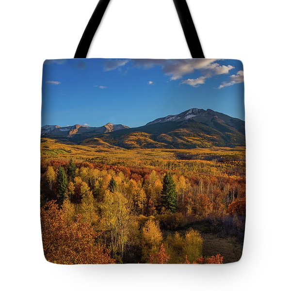 West Beckwith Mountains Shine In The Warm Autumn Light Tote Bag
