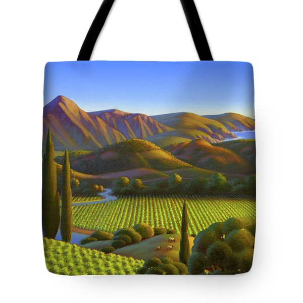 Tote Bag featuring the painting West Coast Dreaming by Robin Moline